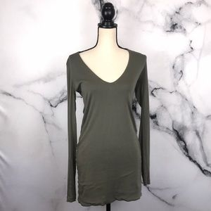 🦋JAMES PERSE🦋 green / grey t shirt dress